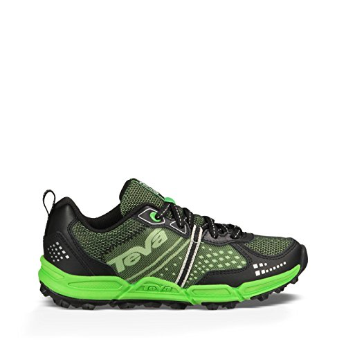 Teva Escapade Low LEA Athletic Trail Shoe (Little Kid/Big Kid), Black/Neon Green, 10.5 M US Little Kid