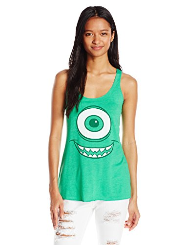 Disney Women's Monsters Inc. Mike Graphic Tank, Envy, Medium -