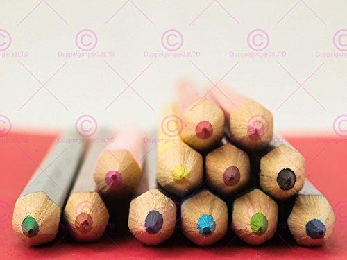 (Doppelganger33 Ltd Photography Composition Sharp End Point Coloured Pencils Canvas Art Print)