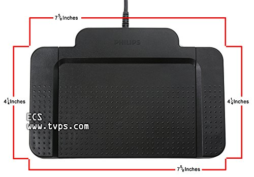 USB Foot Pedal Compatible with Paid Version of Express Scribe by Executive Communication Systems (Image #1)