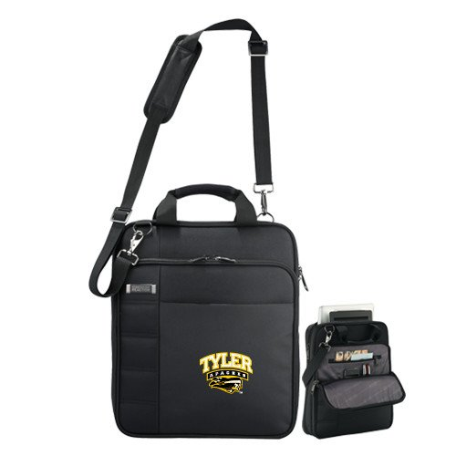 Tyler Junior College Kenneth Cole Black Vertical Checkpoint Friendly Messenger 'Official Logo' by CollegeFanGear