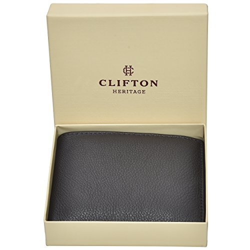 Clifton Heritage Mens Mens Leather Wallets Money Clips Card Cases Top Models To ChooseBrown Small by Clifton Heritage (Image #5)