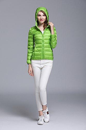 Impacchettabile Corto Donna Chick Cherry Green Piumino Apple Incappucciato Cappotto ZYa7qWqxwt