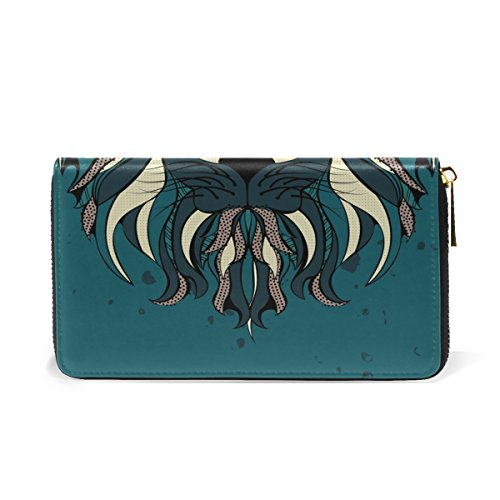 Organizer TIZORAX Zip Lion And Purses Head Wallet Handbags Womens Around Stylized Clutch R1rxCwzqRY