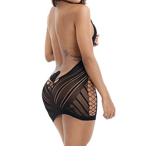 Women Lingerie, ? Ninasill ? Hot Sale ! Lingerie Babydoll Dress Underwear Sleepwear Chemise Dress (Black)