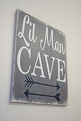 Little Man Cave Wood Sign Nursery Decor ...