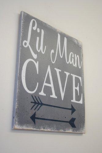 Little Man Cave Wood Sign Nursery Decor Boys Nursery Wall Art