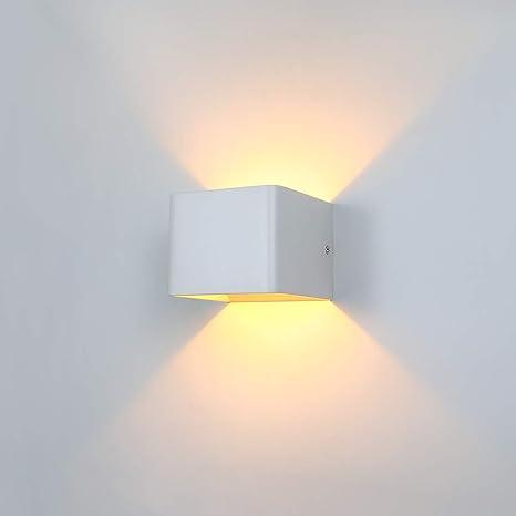Glighone Applique da Parete Interni Lampada a Muro Applique LED Moderne in  Metallo 5W per Decorazione Soggiorno Camera da Letto Bagno Colore Bianco ...