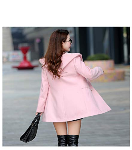 Da Coat Slim Ladies Jacket Coats Cappotti E Warm Solid Short Egcra Keep Donna Pink Winter XavnF