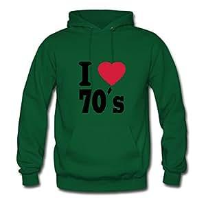 Best Lynsnyd Green Fashionable I Love The 70 S Sweatshirts X-large Women