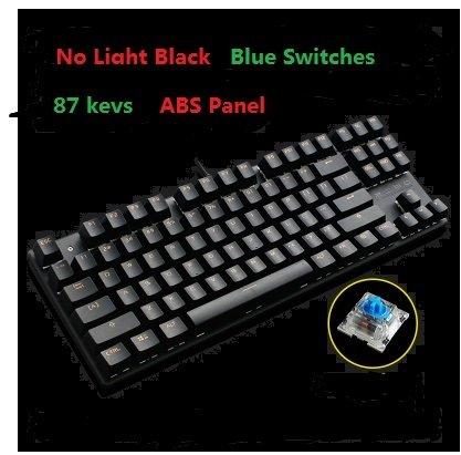 9f9c0037e62 No light Black, Red Switch : METOO Zero Mechanical keyboard 87/104 keys  Black