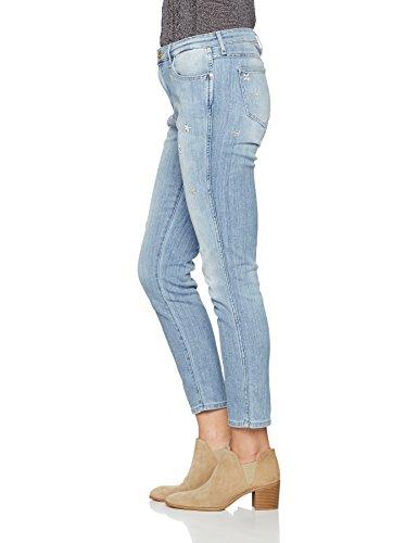 Azul Boyfriend Para Mujer light Blue Summer Flower Jeans Wrangler 7wAxvnWv