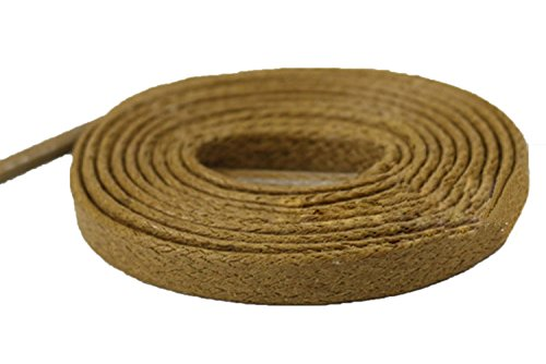 Flat Waxed Cotton Shoelaces Waterproof for Dress Shoes Boots Casual Shoes Sneaker by Santimon Khaki (Khaki Pull)