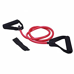 Adeco Single Resistance Band Door Anchor and Starter Guide, red