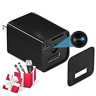 Spy Camera - HD 1080P Hidden Camera USB Wall Charger - Premium Pack - USB Hidden Cameras – Best Mini Spy Camera Charger Video Recorder Home Security System - Motion Detector Nanny Camera No Wi-Fi