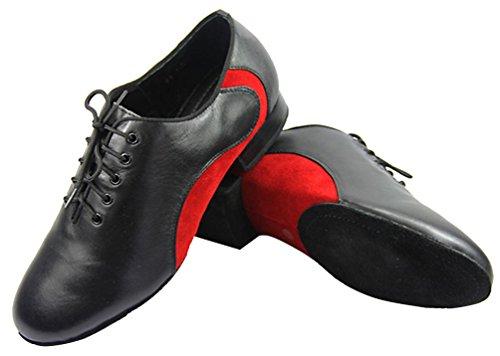 Abby M8 Mens Nya Trendiga Modern Klassiker Tango Stängd Tå Balsal Läder Standard Dansskor Röd
