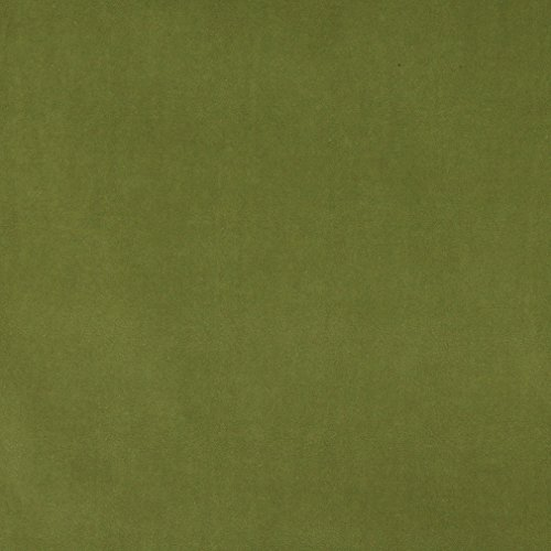 A0000R Green Authentic Cotton Velvet Upholstery Fabric by The Yard ()