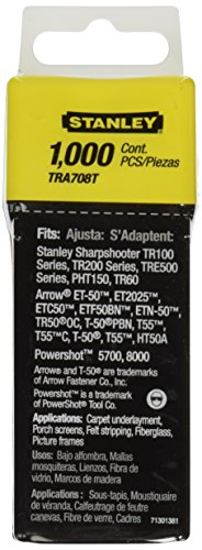 076174054293 - Stanley TRA708T Sharpshooter 1/2-Inch Leg Length Staples, Steel (1000 Count) carousel main 1