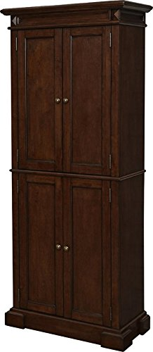 72'' Kitchen Pantry Made of Solid And Manufactured Wood In Cherry Finish Adjustable Shelfs Behind Doors The Perfect Organizer Four Your Kitchen by eCom Fortune