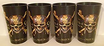 Pirates of the Caribbean: Dead Men Tell No Tales Movie Theater Exclusive Four 44 oz Plastic Cups