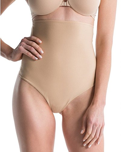 Spanx Womens High Waist Thong Shaping Panty Beige XL