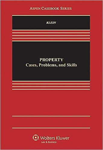 Anglais téléchargement mp3 de livres audioProperty: Cases, Problems and Skills Practice (Aspen Casebook) PDF DJVU 1454868031
