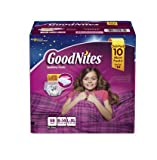 GoodNites Bedtime Underwear for Girls (Size L/XL, 58 ct.)