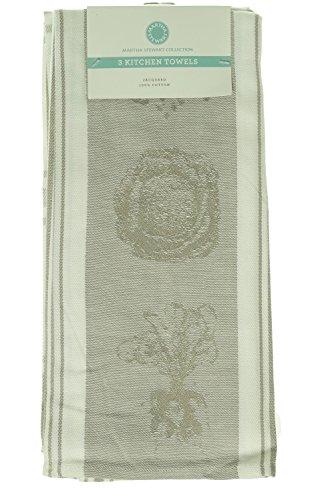 [Martha Stewart Collection Jacquard Set of 3 Kitchen Towels] (Martha Stewart Dish)