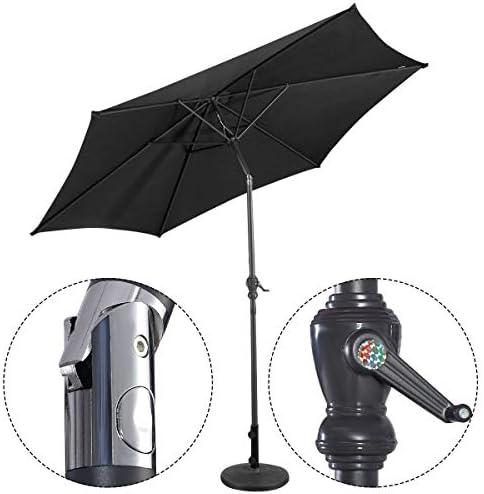 シェルフアース交換 ポール直径38MM-48MM、パティオ、デッキ、ポーチ、芝生、庭、11KG、カラー名に適した頑丈で耐候性のあるパラソルベースに適したプレミアム鋳鉄製のラウンド傘ベーススタンド (Color : Black)