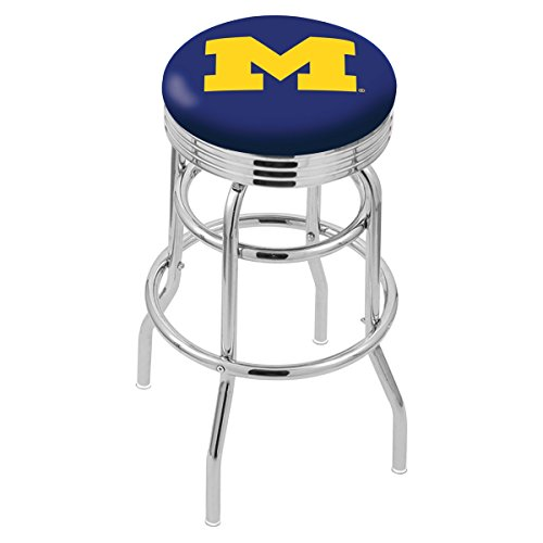 Holland Bar Stool L7C3C University of Michigan Swivel Counter Stool, 25""