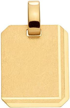 Gold Gravurplatte Anhänger 8 k 333 Gelbgold