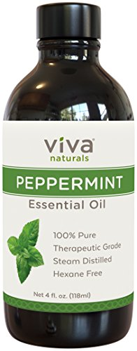 Viva Naturals Peppermint Essential Oil, 4 Ounce