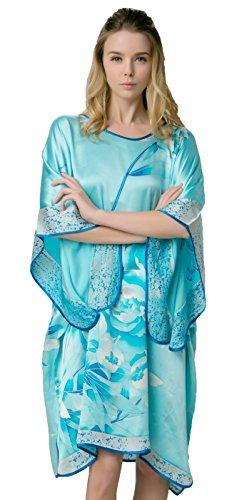 Grace Silk 100% Silk Nightgown, Batwing Sleeved