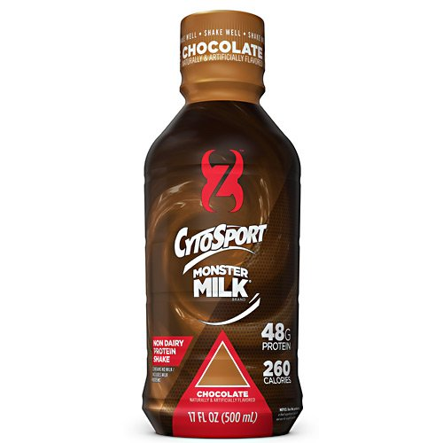 CytoSport Monster Milk RTD - Chocolate - Box of 12 - 17 fl oz Shakes