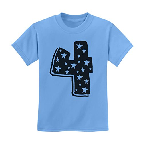 Tstars Four Years Old Boy/Girl Birthday Gift Idea - I'm 4 Superstar Kids T-Shirt
