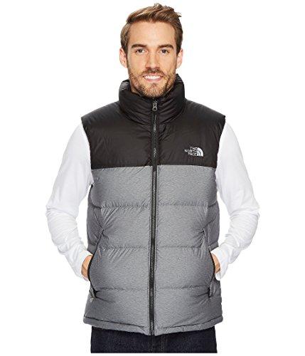 (The North Face Nuptse Vest - Men's TNF Medium Grey Heather/TNF Black X-Large)