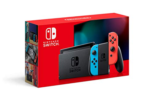 Nintendo Switch with Neon Blue and Neon Red Joy‑Con - HAC-001(-01) (Best Ps4 Game Deals Black Friday)