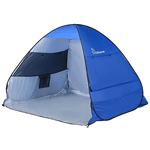 WolfWise Portable UPF 50+ Easy Pop Up Beach Tent Instant Sun Shelter Tent Sunshade Baby Canopy