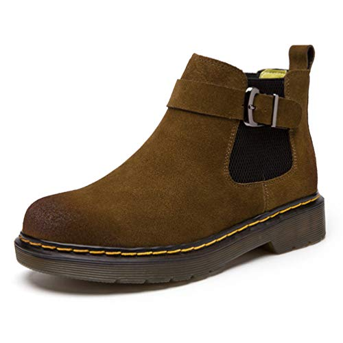 Martin Bottines Chaussures Daim Bottes Kaki YTUZP