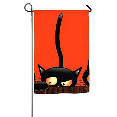 TARDIGA Black Cats Halloween Background Flag Banners Single-Sided