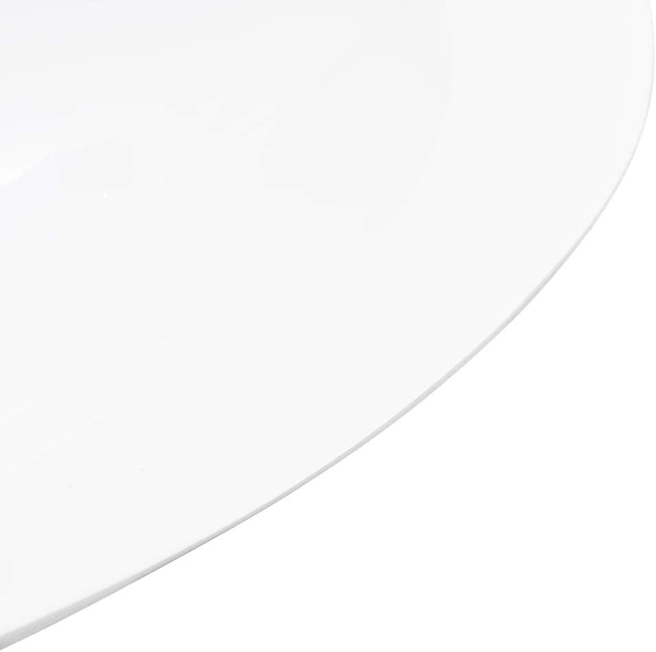 vidaXL Lavabo Resina Mineral//M/ármol Ba/ño Servicio Fregadero Pieza Fontaner/ía Bricolaje Instalaci/ón Decoraci/ón Grifer/ía Sanitario 120x46x11 cm Blanco