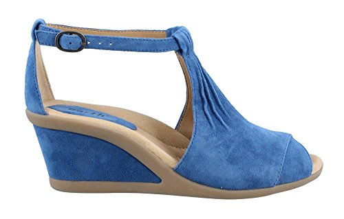Earth Women's Caper Ankle Strap Sandal,Baltic Blue Suede,US 8.5 M by Earth