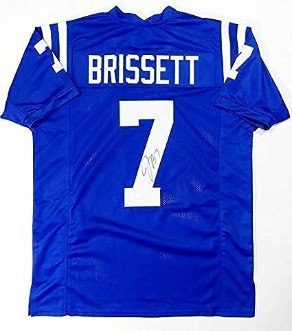 Jacoby Brissett Autographed Blue Pro Style Jersey- JSA Witnessed ...