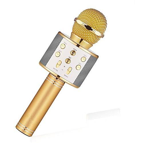 FidgetGear WS-858 Karaoke Microphones Handheld Bluetooth Wireless Phone Music KTV USB Mic from FidgetGear