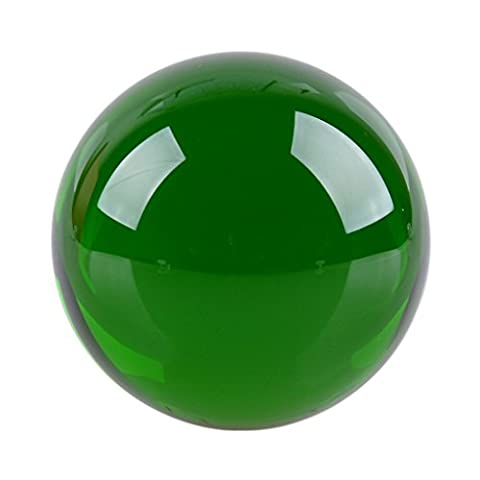 LONGWIN 60mm(2.3 inch) Magic Crystal Healing Ball Glass Sphere (Green) (Solid Glass Ball)