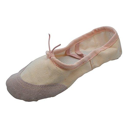 Kein Schmetterling Canvas Ballettschuhe, Chaussons De Danse Pour Fille Saumon