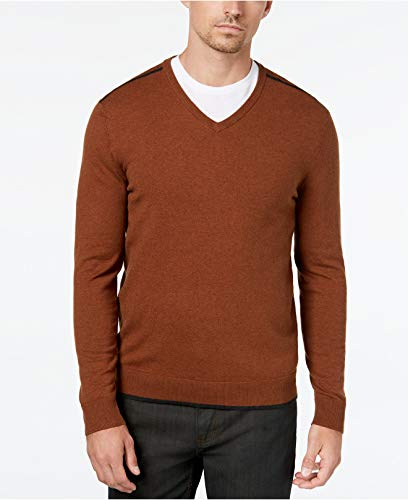Alfani Men's Tipped V-Neck Sweater Nordic Forest XL ()