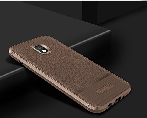 Funda Samsung Galaxy J7 Pro,Funda Fibra de carbono Alta Calidad Anti-Rasguño y Resistente Huellas Dactilares Totalmente Protectora Caso de Cuero Cover Case Adecuado para el Samsung Galaxy J7 Pro E