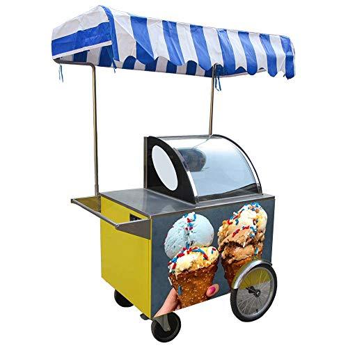 ice cream vending tricycle/Ice cream bicycle/ice cream freezer/gelato hand push cart/snack food cart/street food vending tricycle/ice cream vending cart with full - Vending Food Carts