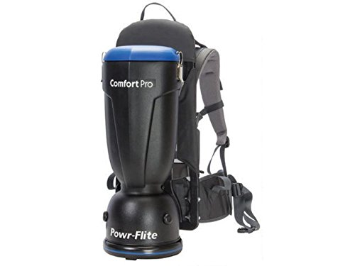 Powr-Flite BP6S Comfort Pro Backpack Vacuum, 6 quart Capacity - Backpack Vacuum Commercial Hepa